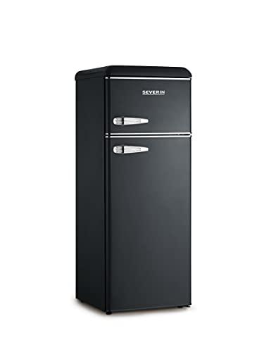 Severin KS 9957 frigorifero con congelatore Libera installazione Nero, Cromo 212 L A++