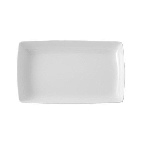 VISTA ALEGRE Carré White Plato Rectangular Pequeño 21, Porcelana, Blanco, 21.2 cm