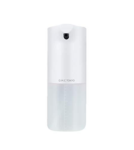O.M.C TOKYO オートソープディスペンサー 自動 泡 IPX4防水仕様 350ml非接触型ハンドソープディスペンサー TypeCのUSB充電式 日本語説明書付き キッチン/洗面所/お店のトイレ/リビングなどに最適 コンパクトデザインの半透明ボトル ホワイト