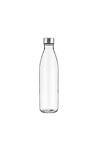 B'GHEST Aquazu Botella de Cristal con Tapón de Acero Inoxidable. Capacidad 75 Cl.