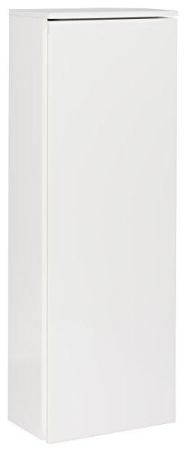 FACKELMANN MIDI-Schrank/Badschrank mit Soft-Close-System/Maße (B x H x T): ca. 40,5 x 115 x 26 cm/Kofferschrank fürs Bad mit 5 Relingfächern in der Tür/Türanschlag Links/Korpus: Weiß