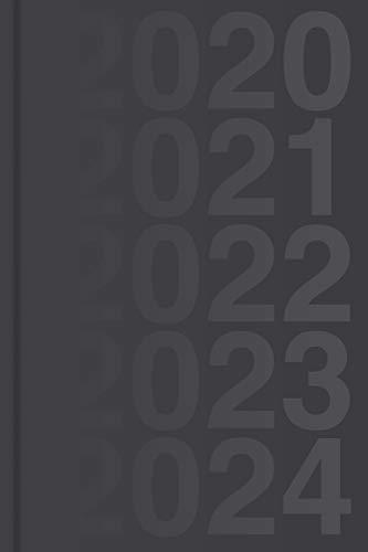 Kalender für 5 Jahre, 2020 - 2024 - Wochenplaner: Wochenkalender und Planer für fünf Jahre (2020, 2021, 2022, 2023, 2024), ca. A5, schwarz