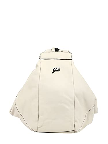 GABS Greta M Zaino Trasformabile in Pelle Soft Bianco Donna 34x31x26 cm