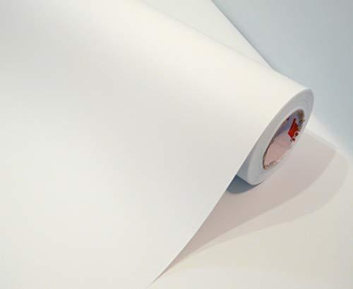 Möbelfolie weiß Matt Möbelfolie weiss Matt Türfolie Klebefolie zum basteln folie zum bekleben von möbel mit Anleitung, Farbe: Weiß, Größe: L100xB63cm