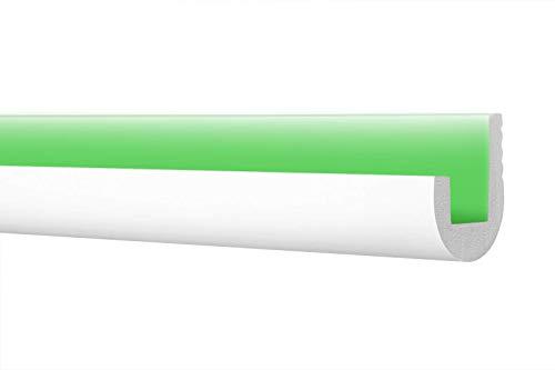 LED Zierleiste 53x120cm - effektvolle Deckengestaltung mit indirekter Beleuchtung - Stuckleiste aus hartem Styropor, leicht und stabil - 2 Meter Leiste, CK24