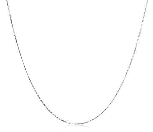 Miore Kette Damen Panzer Halskette Weißgold 14 Karat / 585 Gold, Länge 45 cm Schmuck