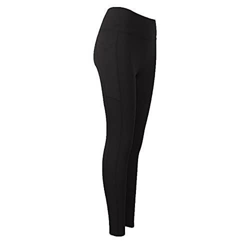 Pantalón Deportivo de Mujer Cintura Alta Leggings Yoga Leggings con Bolsillos para Yoga Running Fitness E,M