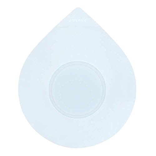 Tapón de bañera, Tapa de tapón de Tubo, Tapón de Drenaje de Silicona Universal para baño de 1-1/2-4 Pulgadas, Bañera, Servicio de lavandería, Cocina, Diseño de Gota de Agua (White)