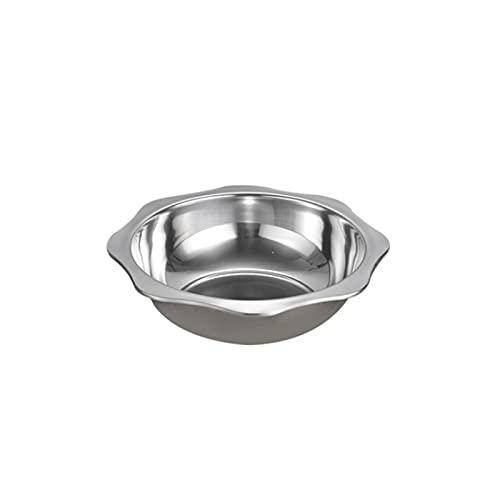 Lazxcnvb Juego de sartenes de acero inoxidable extra grueso, no es fácil de oxidar, menos humo graso, no es fácil de pegar a la sartén (32,7 x 9 cm)