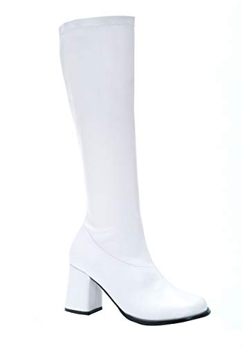 Ellie Shoes Women's Shoes 3 Inch Gogo Boots With Zipper (White;14)