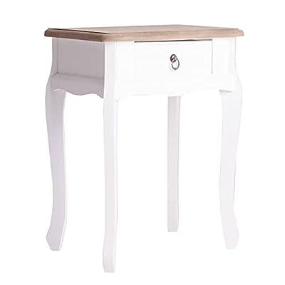 Mesita de noche de estilo nórdico. Su diseño moderno y atemporal encaja en cualquier ambiente y la convierte en un mueble ideal para el dormitorio, recibidor, entrada o como mesa auxiliar para el salón o comedor. Mesilla elaborada en madera de color ...