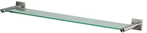 Spirella glazen wandplank NYO badkamerplank plank wandplank voor de badkamer van glas en roestvrij staal 60 cm - om te plakken en te boren