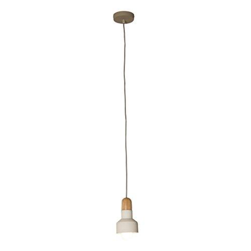 belssia Lamp Pendel E27, 60 W, Wit, Bruin en Grijs, 12 x 12