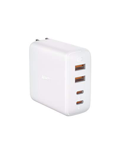 PD 充電器 AUKEY usb充電器 (100W PD対応 4ポートUSB-C×2 USB-A×2 急速充電器) Power Delivery3.0対応/折畳式/PSE認証済 iPhone 12 / 12 Pro / 12 Pro Max /12 Mini /iPhone 11 / 11 Pro / 11 Pro Max、 iPad Pro、MacBook Air、SwitchなどUSB-C機器対応