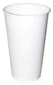 Becher Plastik 0,5 Liter, weiß - 80 St.