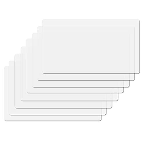 SWAWIS 8 Stück Tischsets Abwaschbar Transparent, Platzsets Abwaschbar Kunststoff, Platzdeckchen Tischuntersetzer rutschfest Hitzebeständige Wasserdicht Tischset Plastik für Restaurant Speisetisch