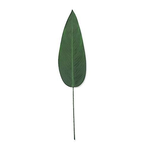 WECDS Artificial Green Big Bamboo Leaves Plantas Verdes Falsas Hojas Verdes para la Oficina del Hotel...