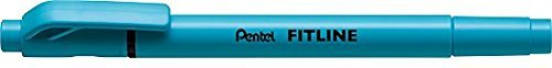 ぺんてる 蛍光ペン フィットライン スカイブルー SLW11-S 【まとめ買い10本セット】