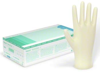 Vasco Sensitive Latex Handschuh Gr. L 1 Karton mit 10 Boxen incl. Versand (L)