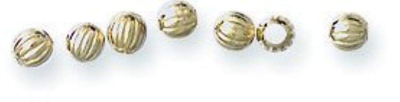 Shipwreck Beads Metal Brass Fluted Round Bead, 2mm, Metallic, Gold, 200-Piece