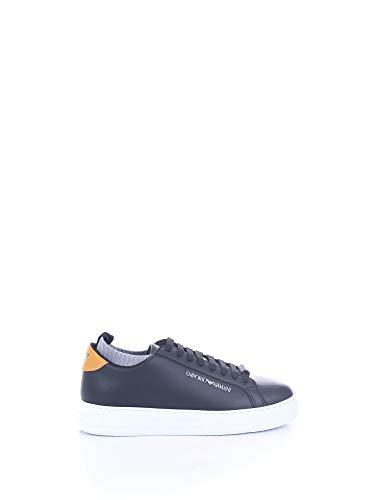 Emporio Armani - Zapatillas blk+ochra+grey #n233 X4X308 XM485 N233 negro / azul claro 7½
