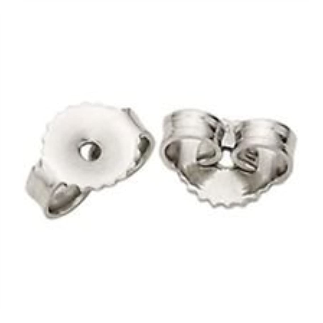 PARIKHS Pair of Friction Earring Backs(ExtraHeavy Earnuts)Replacement back-findings-14k White Gold