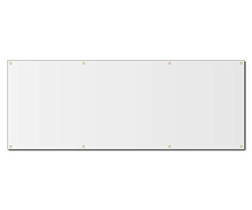 3'x8' Blank White Vinyl Banner - Grommets - 13oz by Milweb1