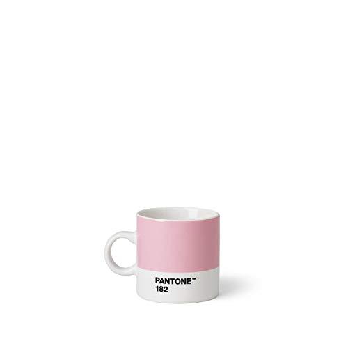 Copenhagen design Pantone Espresso, Small Coffee Cup, Fine China (Ceramic), 120 ml, Light Pink, 182 C, Rosa Claro, 6.2 cm