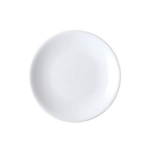 Último Juego de vajillas de porcelana de 6 piezas, placa poco profunda de color puro de 7/8 pulgadas de alta temperatura, utilizado en restaurantes, cocinas y reuniones familiares Puede ser utilizado