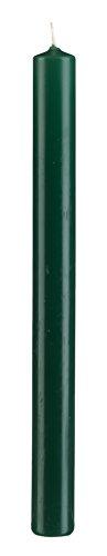 Stabkerzen Grün 30 x 3 cm, Inhalt 6 Stück, deutsche Markenkerzen tropffrei für Kerzenleuchter, Kerzen Leuchterkerzen