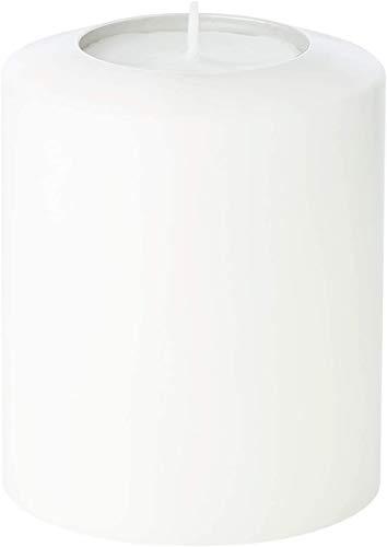 EDZARD Teelichthalter Dauerkerze Cornelius Pine, Höhe 12 cm, Durchmesser 10 cm, geeignet für handelsübliche Maxi-Teelichter und durchsichtige höhere Maxi-Teelichter, hitzebeständig bis 90 Grad