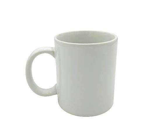 La Taza. De Cerámica blanca para Desayuno Bebidas frías y calientes Café con Leche Diseño Clásico - 1Unid. 300ml.
