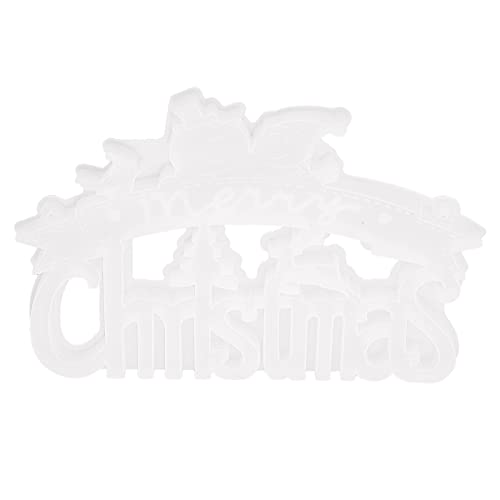 FOLOSAFENAR Molde De Silicona para Papá Noel, Molde De Silicona Navideño Diseño Resistente Al Desgarro con Agujeros para Manualidades para Decoraciones para Colgar En La Pared para Arte De Pared