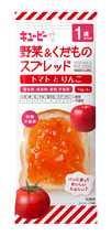 QP キユーピー 離乳食 やさいとなかよし 野菜&果物スプレッド トマトとりんご 36g 60個 (20個×3箱) ZHT