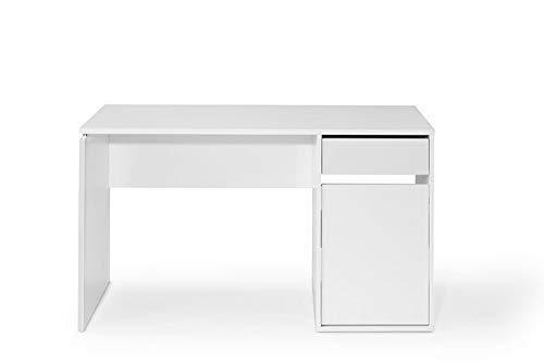 TOP KIT | Mesa de Escritorio Burgos 5210 con cajón y Puerta | Medidas 75 x 100 x 50 cm | Escritorio Ordenador | Blanco