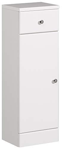 Pelipal 954 Small Unterschrank, Holzdekor, Weiß Hochglanz, 20,0 x 25,0 x 82,0 cm
