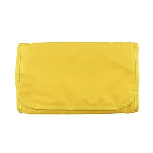 LUBINGT Borsa Cosmetica Donne Uomo New Professional Wash Set Set Organizzatore Travel Makeup Custodia Pieghevole Pieghevole Borsa da stoccaggio Appeso Borsa cosmetica Borsa Cosmetici (Color : Yellow)