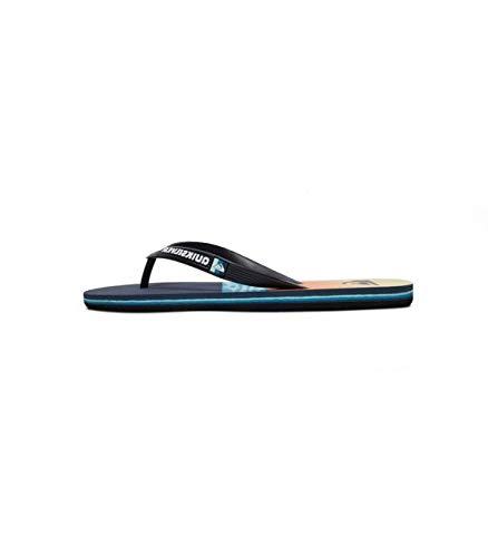 Quiksilver Molokai Hold Down, Zapatos de Playa y Piscina Hombre, Multicolor (Black/Blue/Blue Xkbb), 39 EU