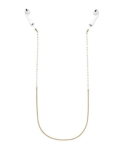SIX Chaîne pour AirPods© - Cordon de maintien - Perles - Anti-perte - Fermoir magnétique (638-895)