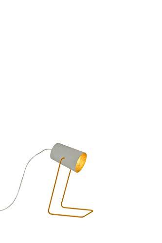 In-es.artdesign IN-ES060014G-O Paint T Cemento Lampe de Table Gris/Or