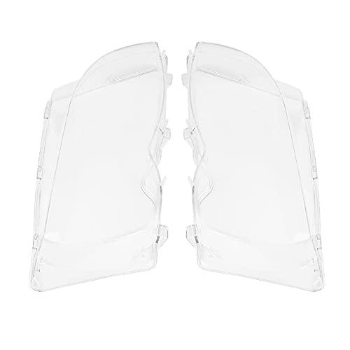 1 par frontal izquierdo + faro derecho cubierta de lente de plástico transparente para E46 3-series 4DR 02-05