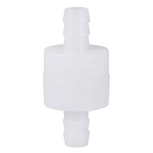 Válvula de retención de plástico blanco de 8 mm para bombas de combustible