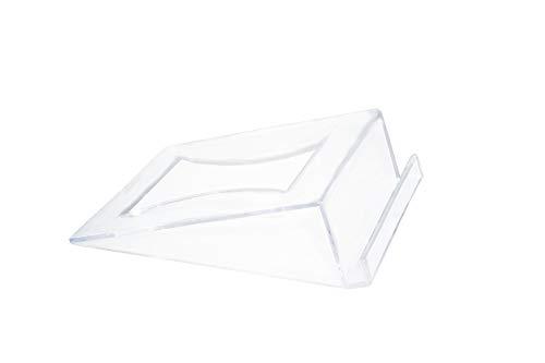 Tischnummernhalter, Kunststoff, transparent, 12 Stück farblos
