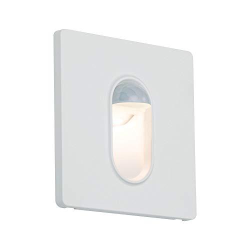 Paulmann 92923 LED Einbauleuchte Wandeinbauleuchte eckig incl. 1x2,7 Watt Einbaustrahler Weiß Spot Kunststoff Einbaulampe 2700 K