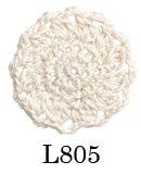 オリムパス製絲 エミーグランデ ビジュー レース糸 合細 Col.L805 ホワイト系 25g 約110m