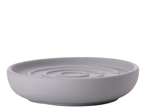 Zone Denmark Nova One Seifenschale/Seifenhalter/Seifenablage, Porzellan mit Soft Touch-Beschichtung, graulich (Gull Grey)