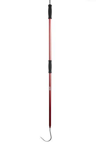 GAFFER SPORTFISHING 4' Aluminum Fishing Gaff Pole with Gaff Hook, Lanyard and Ergonomic Grip (Red)