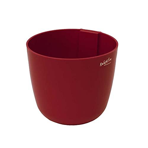 KalaMitica 65114-201-001 Cache-pot Magnétique, Résine Abs, Couleur Rouge, Diamètre 15 cm
