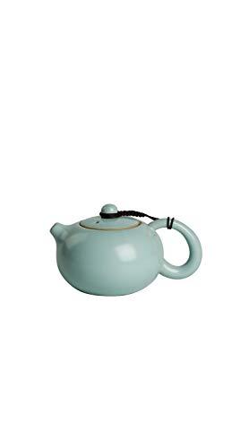 TYZP Kung Fu - Tetera con filtro de cerámica esmaltada estilo chino para el hogar, color azul