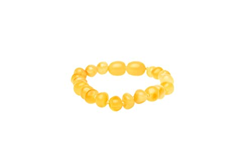 BabyZZ Genuine Baltic Amber Teething Bracelet Honey - Baby Relief Teether Beads for Infants – Made in EU, Safe for Babies Anklet + FREE Linen Bag (11)